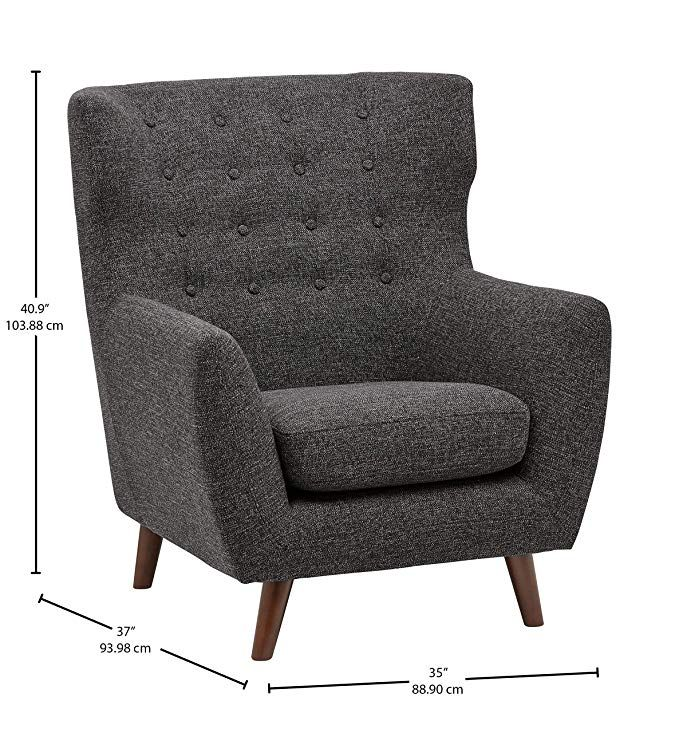 Amazon.com: Rivet Hawthorne Mid-Century Tufted Modern
