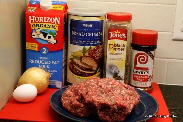 ingredients for meatloaf burgers