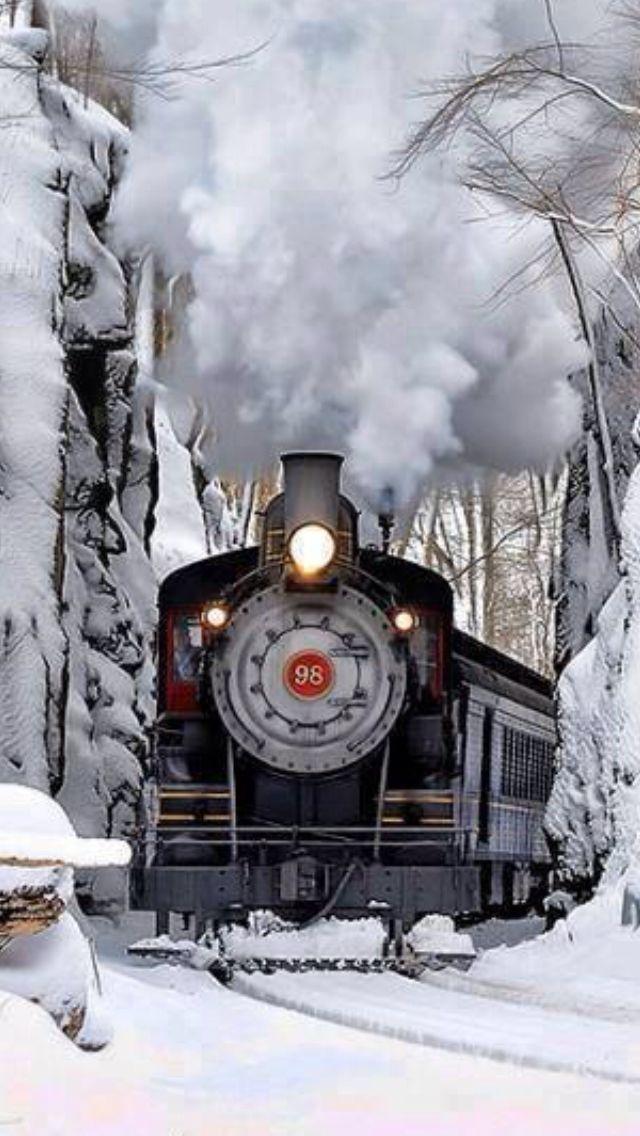 Beautiful image of a steam train