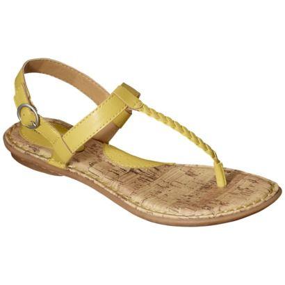 Women S Merona 174 Elysia Braided Upper Flat Sandal Yellow