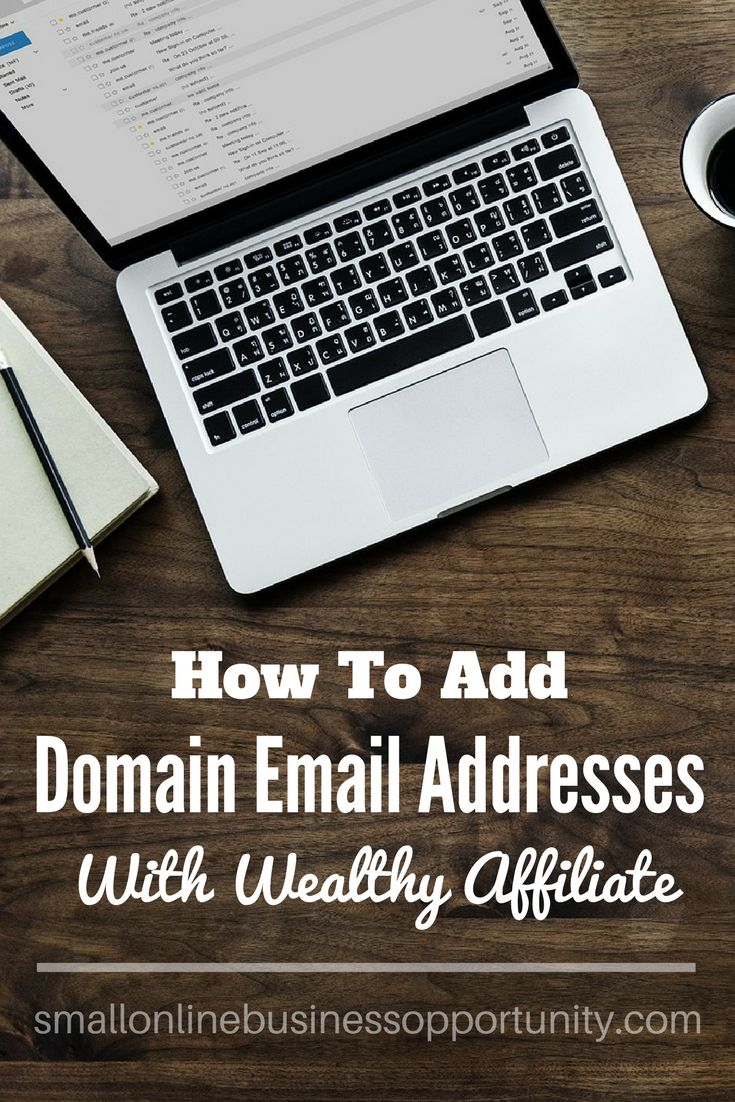 How To Add Domain Email Addresses With Wealthy Affiliate    Are you struggling to get your own domain email addresses set up? Check out how quick and easy it is to do through Wealthy Affiliate!     #domainemailaddresses #emailaddress #setupdomainemail #wealthyaffiliate #wa