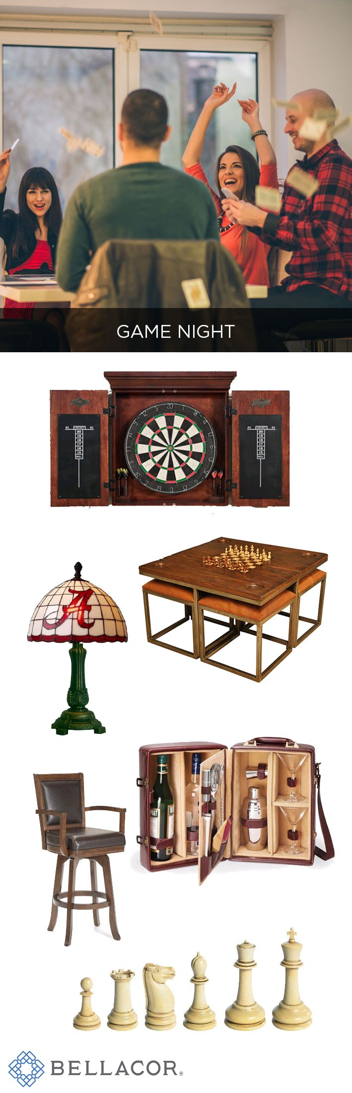 Game Night! Shop game tables, serving carts, lamps and more at the Bellacor Holiday Market. http://www.bellacor.com/results.cfm?Ns=P_hvhmIndex&N=4294856244&Nso=0&partid=social_pinterest