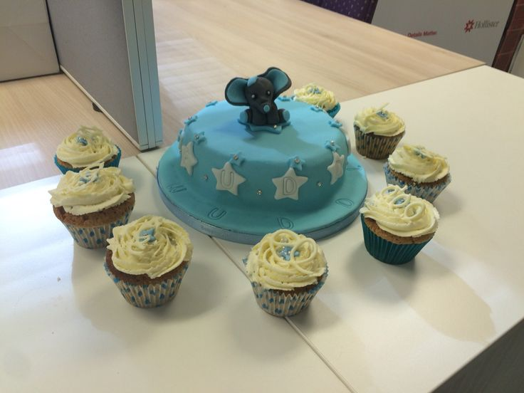 Baby boy office shower party