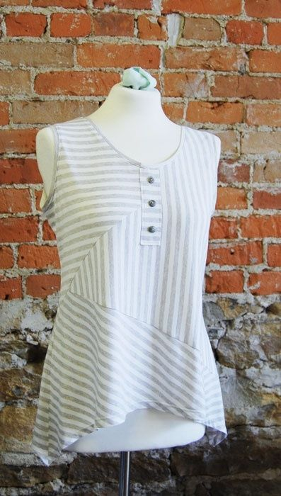 This looks interesting, I like the mis-mosh of angles on the stripe, and the curved hemline.