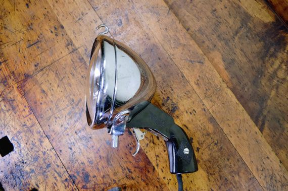 VIntage Pistol Grip Searchlight, Automotive Searchlight, Police Car Light, Spotlight, Signal Light, Automotive Searchlight, Dayton, Ohio