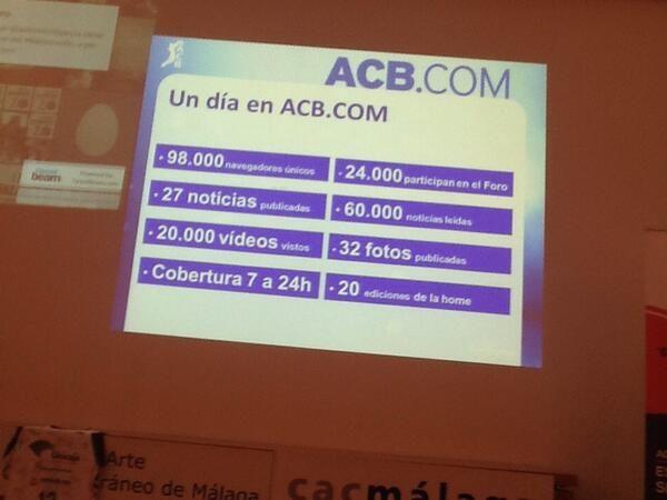Ponencia Pablo Malo de Molina @MalodeMolinaACB. Director de Contenidos ACB.com