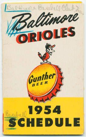 Baltimore Orioles 1954 schedule