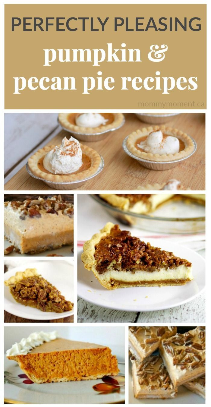 These 9 perfectly pleasing PECAN & PUMPKIN PIES will be the perfect thing to serve to family and friends!