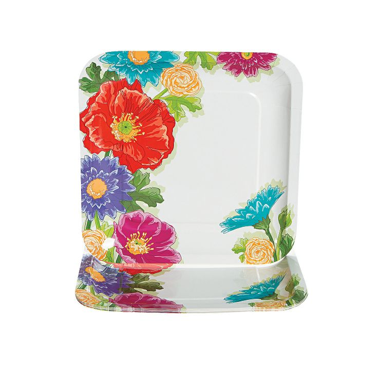Love In Bloom Wedding Dinner Plates - OrientalTrading.com
