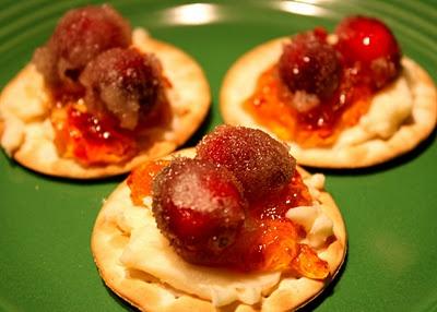 My interpretation of Yummy Mummy's Sparkling Cranberry Brie Crackers