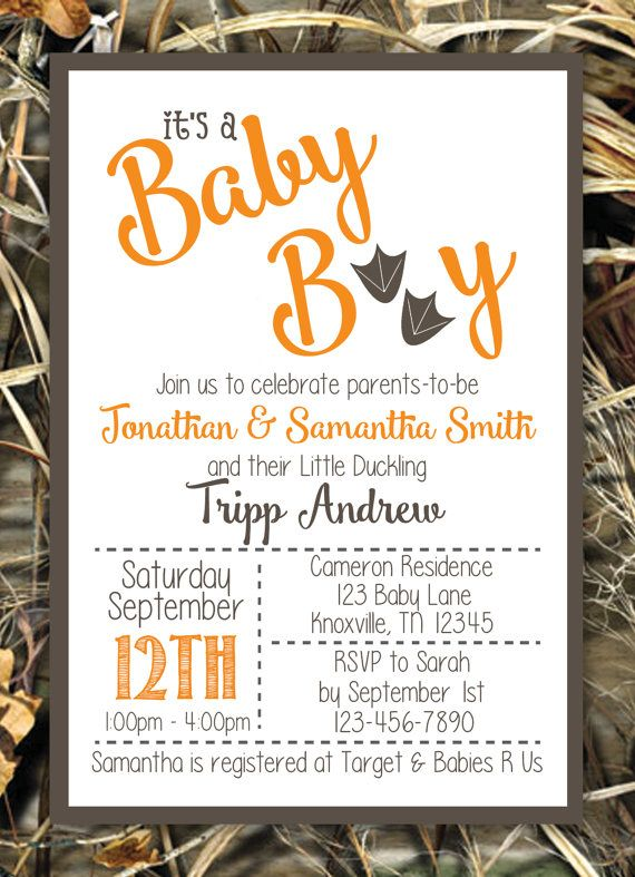 It's A Boy Duck Camouflage Baby Shower Invitation by WhateverIs