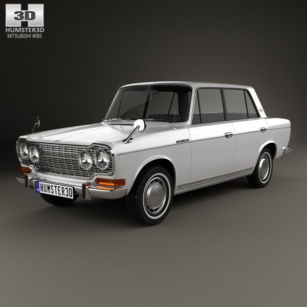 Mitsubishi Colt 1500 1965 3d model from Humster3D.com.