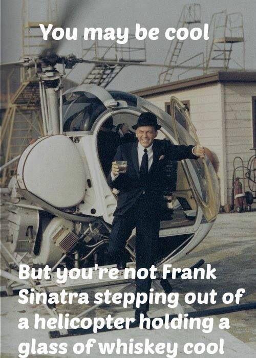 Frank Sinatra cool............Happy Friday.: