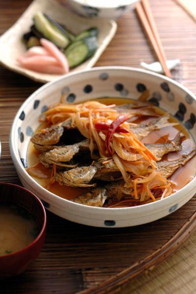 Japanese Food Aji Nanbanzuke, Fried Fish Marinated in Sweet and Spicy Vinegar Sauce (Recipe in Japanese)|小あじの南蛮漬けレシピ