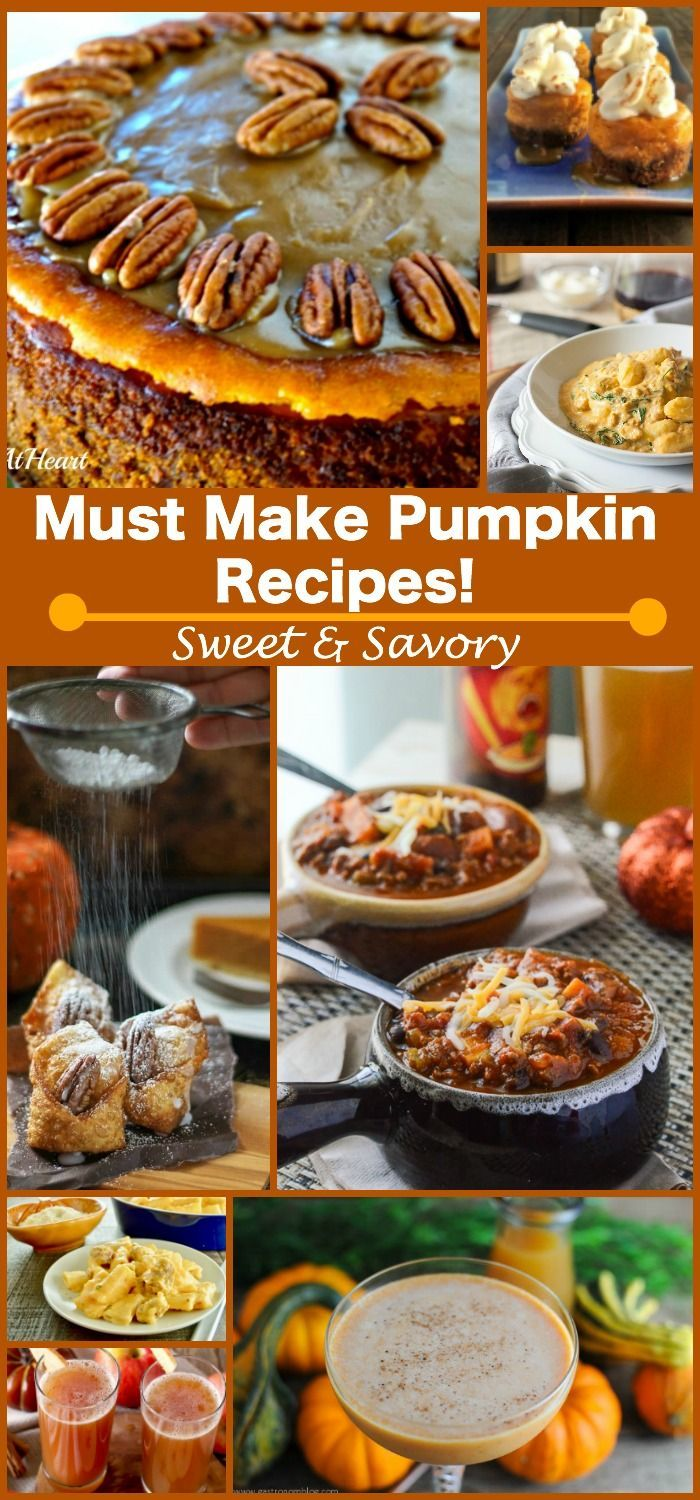 10 Sweet and Savory Pumpkin recipes you must make this Fall Season. Easy and Delicious!