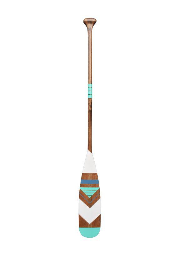 Decorative canoe oar navajo design  nautical by Ropesandwood