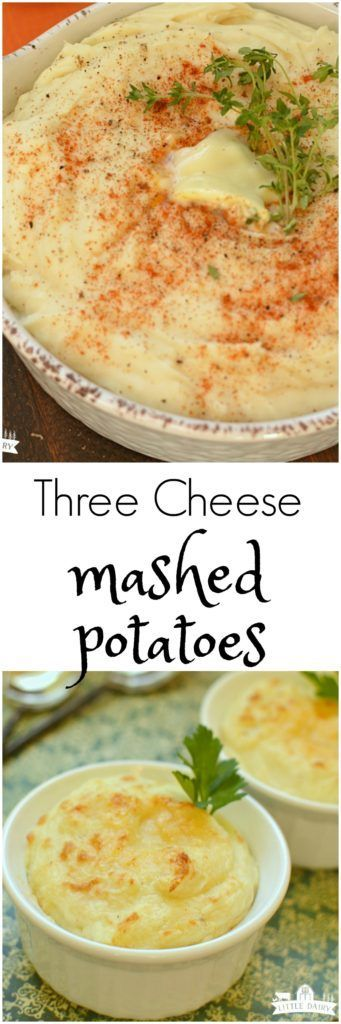 Three Cheese Mashed Potatoes are creamier, and cheesier than you can imagine! And...they are make ahead!