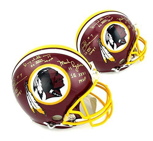 Joe Theismann Mark Rypien  Doug Williams Signed Washington Redskins Authentic Riddell NFL Helmet With Champs And MVP Inscriptions *** Want to know more, click on the image.