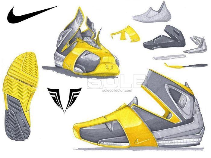 Nike trainer sketch