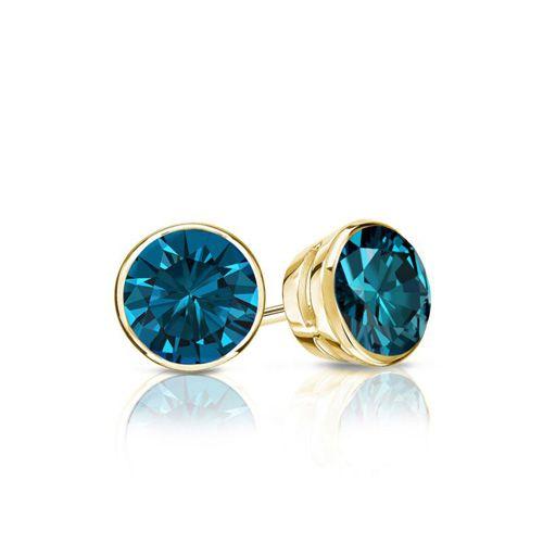 Diamantohrstecker 0.50 Karat blaue Diamanten 585/14K Gelbgold für nur 999 Euro #diamantohrstecker #weissgold #gelbgold #rosegold #blaue_diamanten #schmuck #ohrschmuck #ohrstecker #juwelier #abt #dortmund #karat
