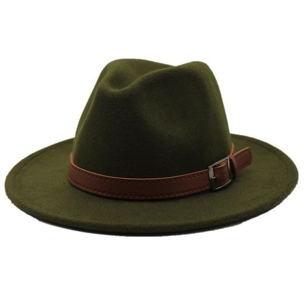 Fedora Hats Unisex Men Women Classic Vintage Wool Felt Hat Casual Wide Brim Jazz Cap Panama Hat with Band