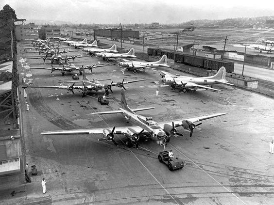 Record day for B-17 production. 16 built in a 24 hour period on April 30 1944 - Boeing Historical Archives