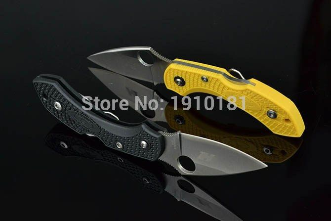 Spyderco C28 folding pocket knife outdoor Camping hunting knifes with clip free shipping(China (Mainland))
