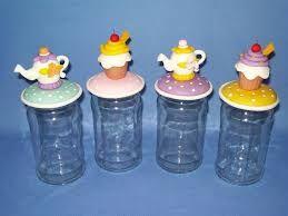 Resultado de imagen para frascos decorados con porcelana