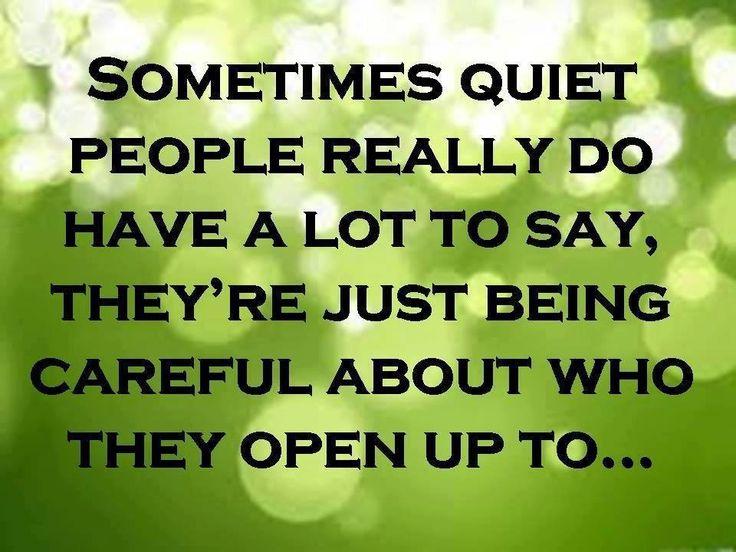 25+ Best Quiet People Quotes On Pinterest