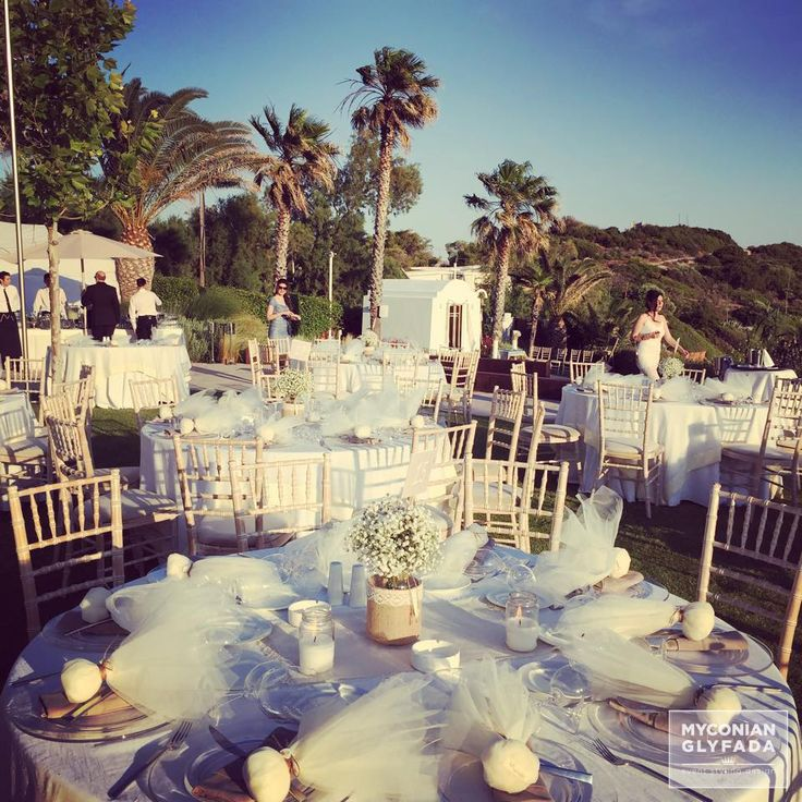 | Beautiful Sunset Wedding | Βασίλης & Κωνσταντίνα | #greekwedding #sunsetwedding #gusttable #myconianglyfadawedding