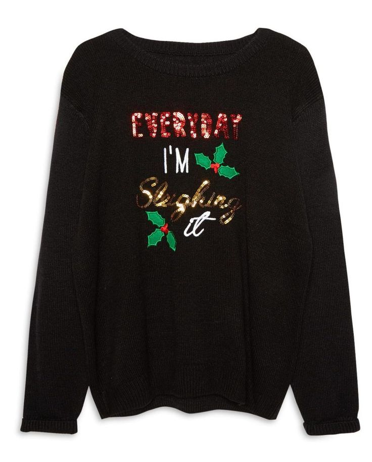 Nothing beats a good slogan jumper, such as this 'Everyday I'm sleighing it' option