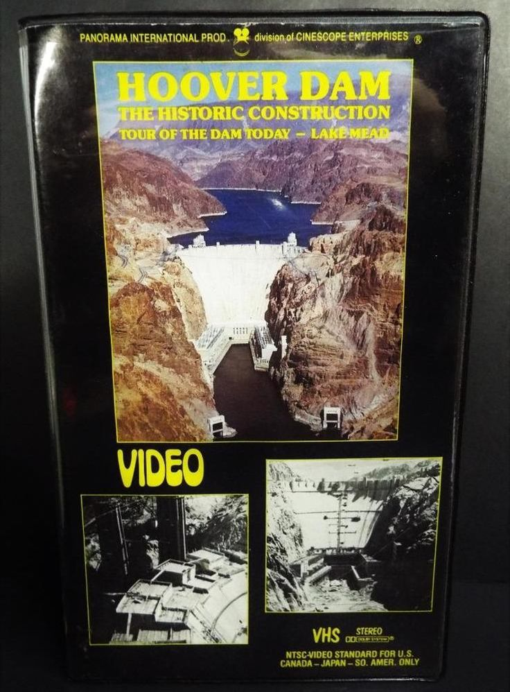 Hoover Dam VHS The Historic Construction ~Tour Of The Dam Today ~Lake Mead~ RARE
