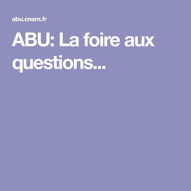 ABU: La foire aux questions...