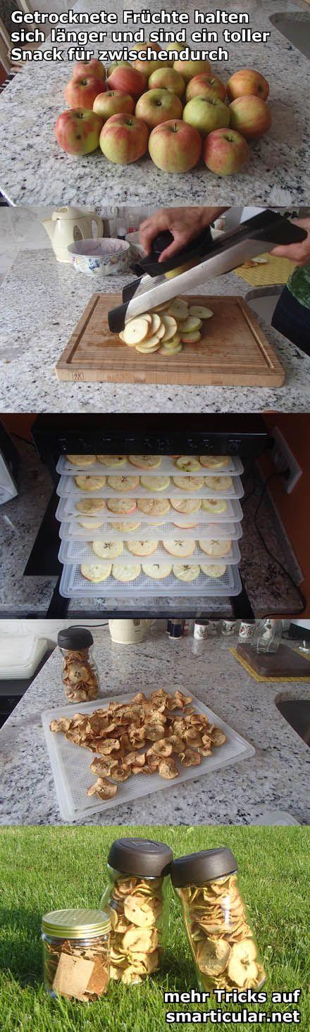 Früchte durch Trocknen haltbar machen – ein leckerer und gesunder Snack  #äpfel #birnen #mangos