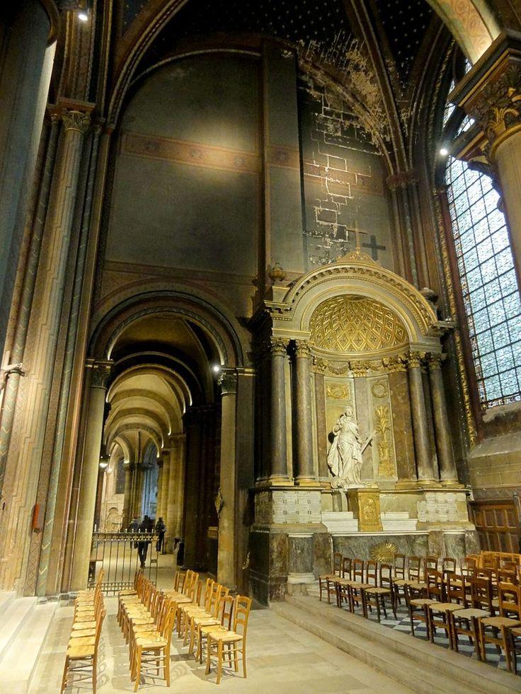 Paris (75), abbaye Saint-Germain-des-Prés, croisillon sud - chapelle Ste-Marguerite, vue vers l'est 1 - Abbaye de Saint-Germain-des-Prés — Wikipédia