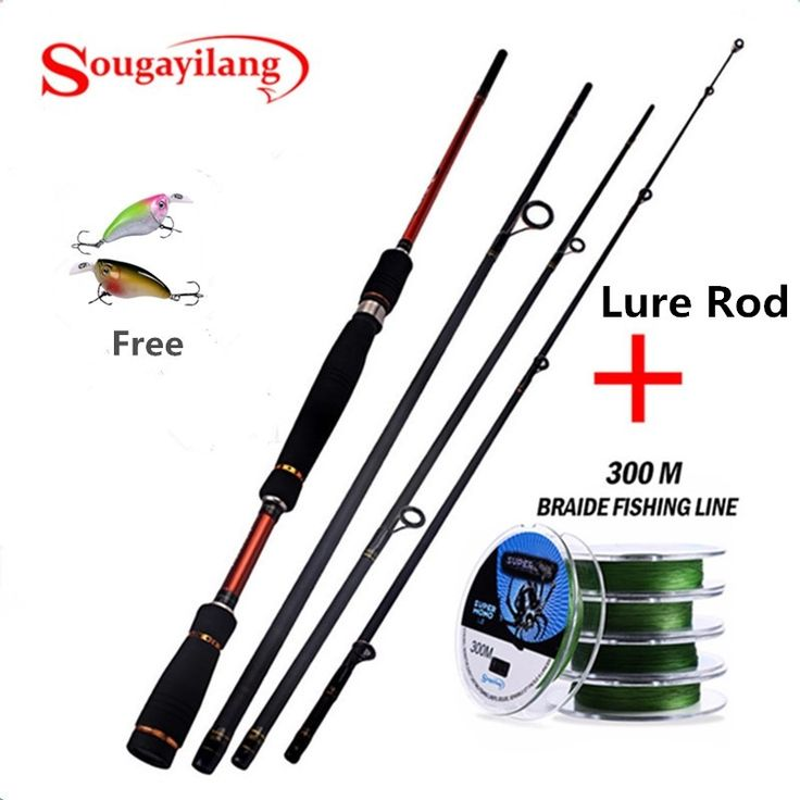 38.59$  Watch more here  - 2.1-2.7M 4 Section Carbon Baicasting Travel Fishing Rod With 300M Brided Fishing Line Lure Fishing Rod With Fishing Line kit