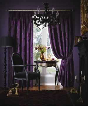 Laurence Llewelyn-BowenGlamsterdam Lined Pleated Jacquard Curtains