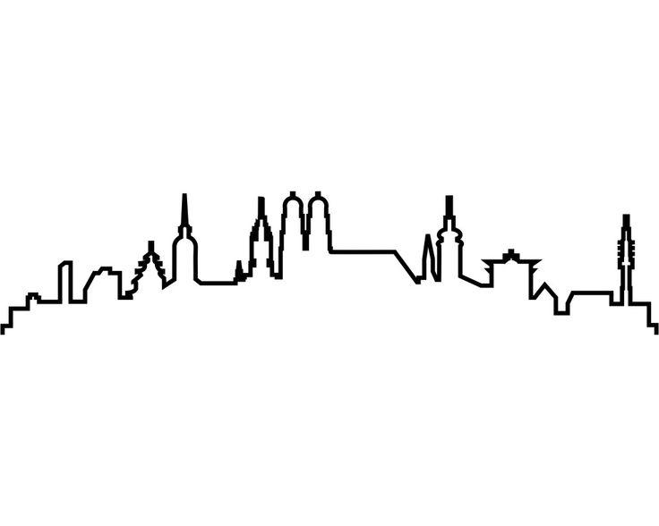 München Skyline Aufkleber Silhouette - Vorschau 2