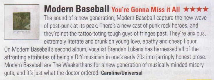 Modern Baseball - Stack Magazine