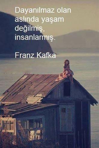 ✔Dayanılmaz olan əslində yaşam deyilmiş, insanlarmış. #Franz_Kafka