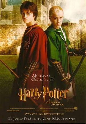 『ハリー・ポッターと秘密の部屋』ハリーとドラコ・マルフォイのクィディッチの姿
