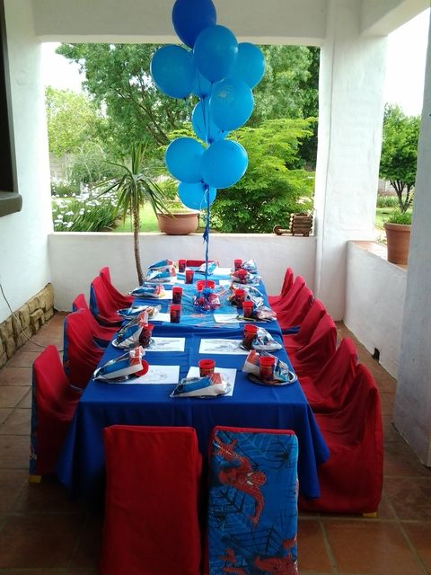 Spiderman Birthday Party Table