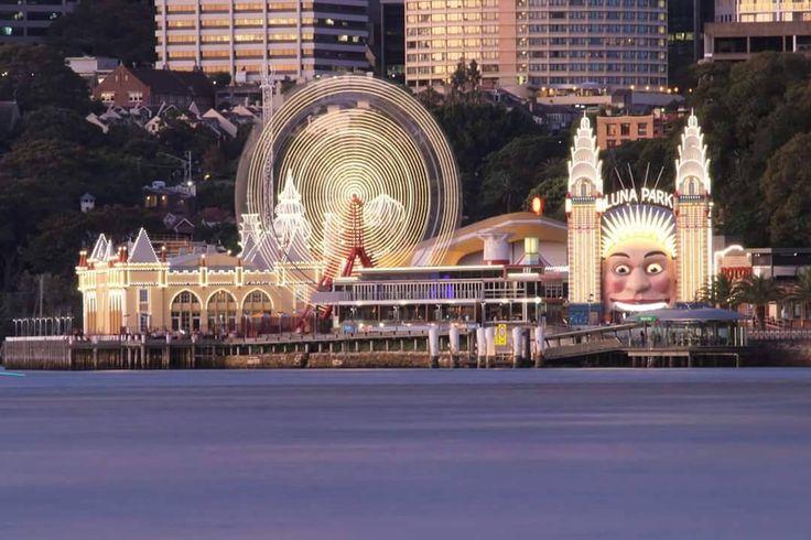 """""""Whirling lights, Luna Park, Sydney…"""""""