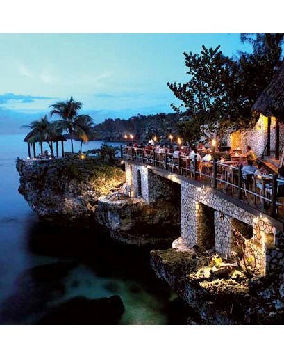 "The Rockhouse Negril, Jamaica ""Negril is known for its beach—a seven-mile stretch of white sand—but the Jamaican coast gets rocky as you go west, and perched over the water, on the western 'cliff side' of the island, is the Rockhouse.…"""