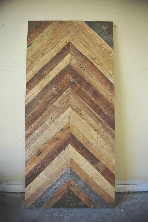 Reclaimed Barn Wood Chevron Herringbone Dining Kitchen