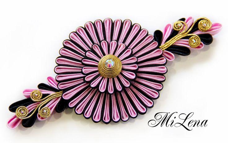 Цветок канзаши / Пошаговый МК  / DIY Kanzashi flower / Ribbon flower tut...