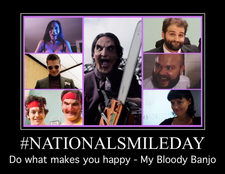 #NationalSmileDay Revenge is best served with a smile  Follow #MyBloodyBanjo on  #Twitter @banjomovie  #Facebook @mybloodybanjo  #SupportIndieFilm #Horror #Comedy #Revenge