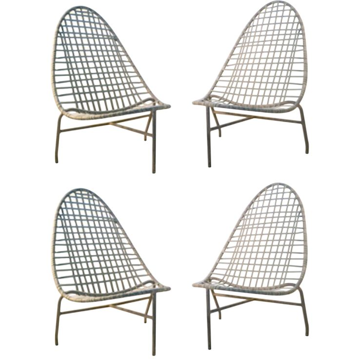 4 Brown Jordan Low Lounge Chairs