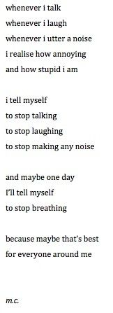 I already tell myself this. Maybe one day I'll finally listen to myself.