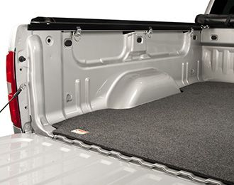 The Access™ Truck Bed Mat is made from 100% recycled soda and water bottles. Its marine-grade, easy to install carpet liner is not only Eco-Friendly, it also adds increased protection and durability to any truck.